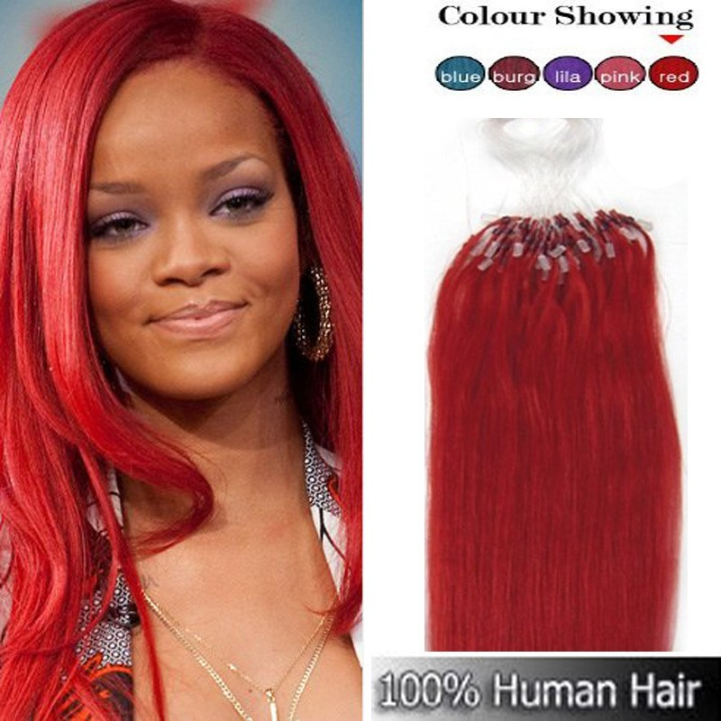 Micro Ring Hair Extensions Bright Red Hair Extensions Richardson