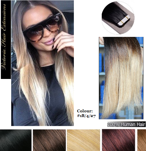 Long50cm 4a grade 100 remy human tape hair extensions 50g ombre 20 long50cm 4a grade 100 remy human tape hair extensions 50g ombre pmusecretfo Choice Image