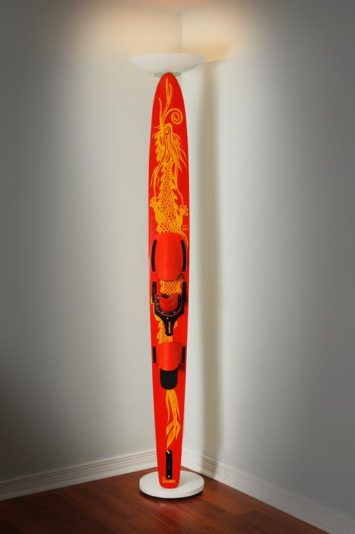 Ski Pole' Floor Lamp | Rustic Furniture Mall by Timber Creek