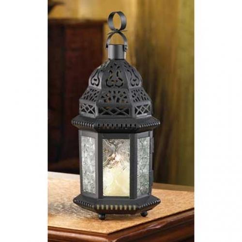 10 Clear Glass Moroccan Lantern