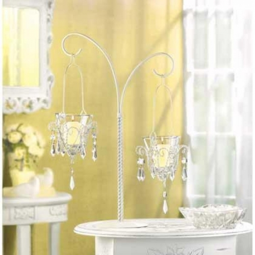 10 MINI-CHANDELIER VOTIVE STANDS
