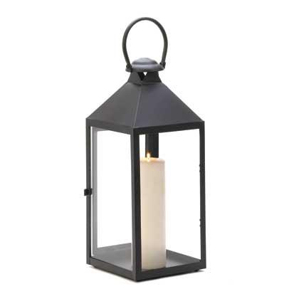 Black garden candle lanterns