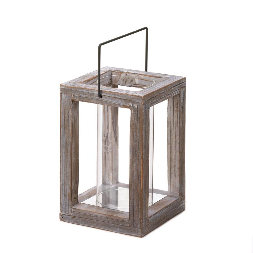 Rustic garden wooden lantern for Wooden garden lanterns