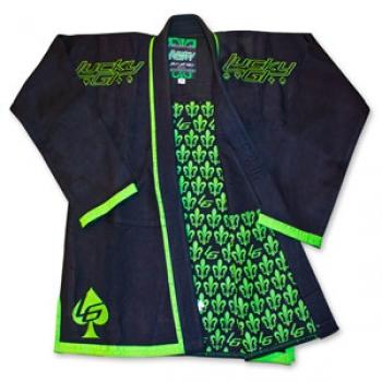 Black/Green Fleur-De-Lis Lucky Gi
